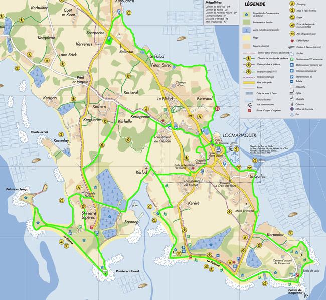 carte des sentiers cotiers
