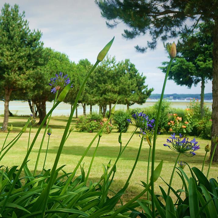 jardin bordé par le sentier cotier